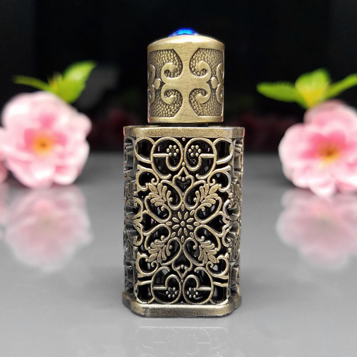цены  3ml Retro Miniture Vintage Glass Bottles for arab perfume,Empty antique perfume bottle,Bronze arabic perfume bottles