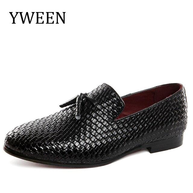 Hommes Cuir Chaussures Respirant Décontracté Confortable Chaussures Conduite Chaussures Mocassins & Slip-Ons Extérieur Noir (Couleur : Une, Taille : 42)