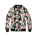 Floral Printing Jackets Men Women 2017 Winter Bomber Jackets Hip Hop Jacket Street Fashion Men Clothes