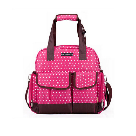 2015 Baby Fashion Bag Baby Diaper Backpack,Portable Mother Bag Baby Bags Multifunctional Maternity Bag for Baby Travel Pink Red