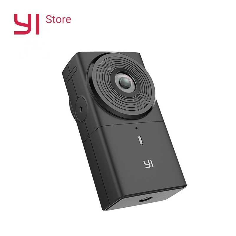 YI VR 360 Ação Da Câmera Cam 220 graus de Lente Dupla 5.7 K/30fps Câmera Digital Câmera Panorâmica Imersiva Sem Esforço