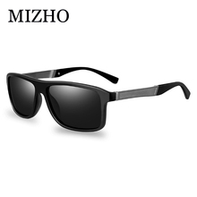 MIZHO UV400 Polaroid Sunglasses Unisex Square Vintage Rectangle Aluminum Famous Traveling Brand Polarized Sun glasses Men Retro