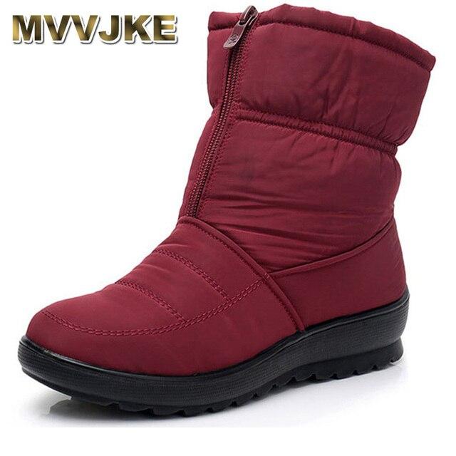 € 16.23 48% de DESCUENTO MVVJKE nieve botas de invierno cálido antideslizante impermeable botas de Mujer Zapatos de madre zapatos casuales de algodón