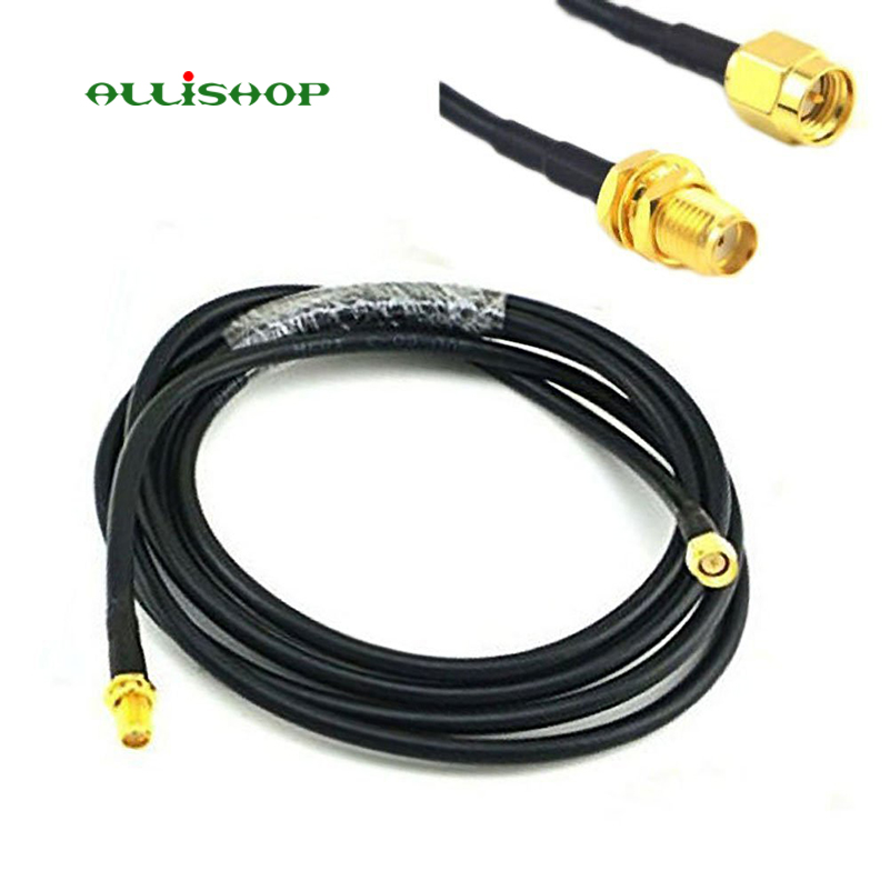 Low Loss WIFI Antenna Cable 2M SMA Male to SMA Female RG58 50 ohm Coaxial Pigtail For LTE MIMO Directional 3G 4G LTE Ham ADS-B jx rf coaxial cable sma male to sma female connector for rg316 pigtail cable 5cm 5m for 3g 4g antenna extension cord