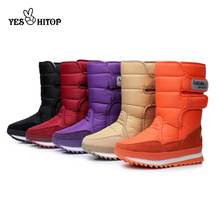 2019 EUR35 45 snow boots women waterproof hiking warm flats winter boots woman ladies shoes 2019 Botas Mujer neve