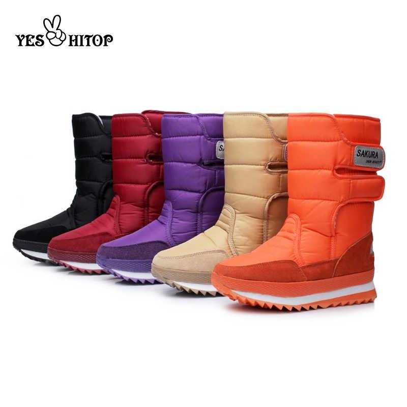 2019 EUR35-45 snowboots vrouwen waterdichte wandelschoenen warm flats winter laarzen vrouw dames schoenen 2019 Botas Mujer neve