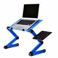 Aluminum Alloy Laptop Table Adjustable Portable Folding Computer Desk Students Dormitory Laptop Table Computer Stand Bed Tray(China)