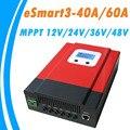 Модернизированный ESmart3 со слежением за максимальной точкой мощности, 40A 60A блок управления установкой на солнечной батарее 48 V/36 V/24 V/12 V авто с...