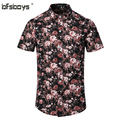 2016 Nova Marca Homens Vestido de Camisa de Algodão de Manga Curta Masculina Camisa Masculina Business Casual Impresso Moda Camisas Formais Fino