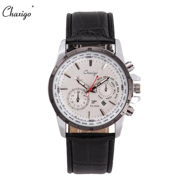 Chaxigo Reloj de Cuarzo Marca Para Hombre Baratos Relojes de Pulsera de  Negocios de Diseño de 70e215565636