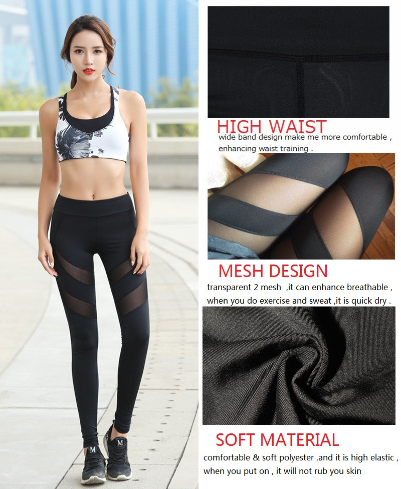 9422e5b60f7 SEXYWG Women Fitness Pants High Waist Trainer Trouser Body Shaper Tummy  Control Panties Quick Dry Mesh Tight Legging Black-in Yoga Pants from  Sports ...