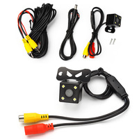 Waterproof HD CCD Wide View Car Rear View Camera 4 LED Night Vision Universal Parking Assistance
