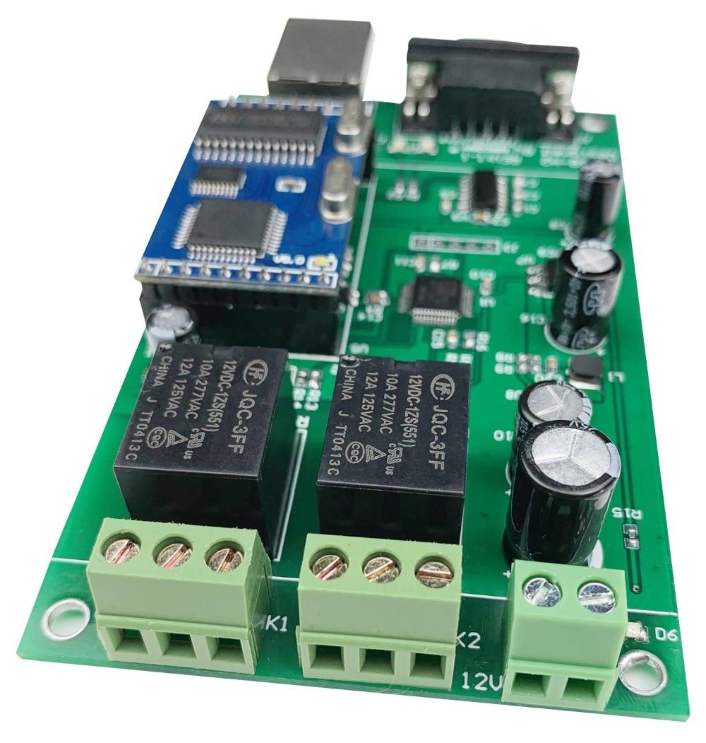 2 Channel Ethernet Relay Module Lan Wan Network Web Server RJ45 RS232 Port TCP IP Switch DIY PCB Board Smart Home