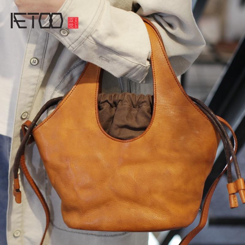 AETOO Vintage teen satchel, hundred mori bag, leather portable crossbody bagAETOO Vintage teen satchel, hundred mori bag, leather portable crossbody bag