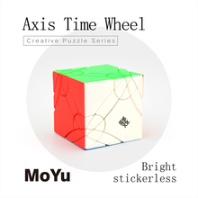 New MoYu Axis Time Wheel Cube Stickerless Creative Magic Cube TimeWheel Speed Puzzle Special Toys For
