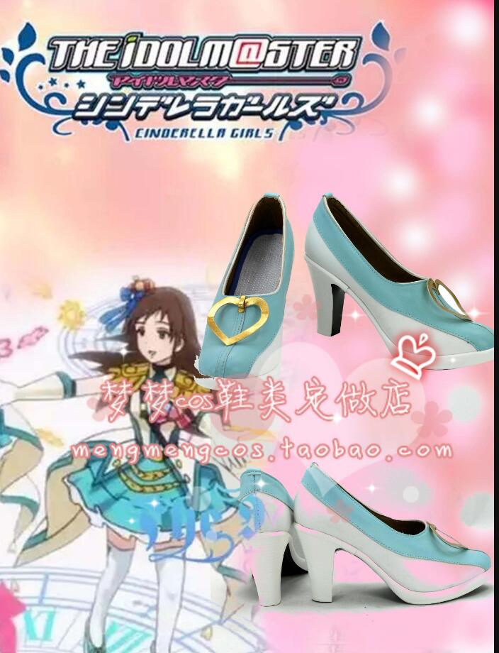 THE IDOLM STER Star2 Platinum THE IDOLM@STER Cinderella girlsCosplay Costume Punk lolita boots shoes girls cosplay pro custom