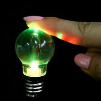30pcs Lot Best Selling Small Hanging Party Toy Changing Color Led Light Bulb Keychain Colorful Bulb