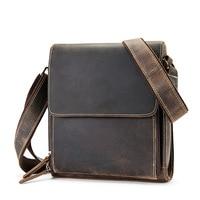 Luxury Genuine Leather Bag for Men Messenger Bag Casual Man Shoulder Crossbody Handbag Large Vintage Crazy Horse Hand Bag Totes