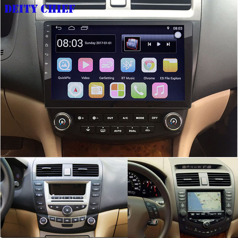 Android 1024 600 Quad core 10 1 Car radio GPS Navigation for HONDA Accord 7 2003