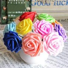 Искусственный Свадебный цветок ПЭ невесты листья мультфильм 10 шт Хэнк моды розы дома с Декоративный букет Горячий