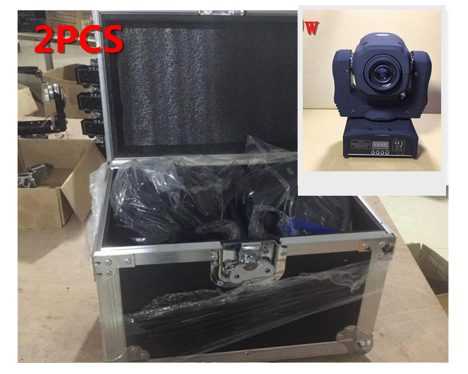 2 PCS 60 W + flightcase LED Spot Moving Head Light/USA Luminums 60 W LED DJ Spot Light