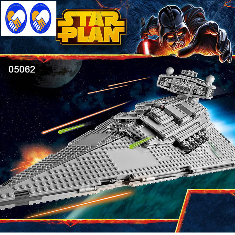 A Toy A Dream Lepin 05062 Star War Series The Imperial Star Destroyer Educational Building Blocks Bricks Compatible Toy 75055 lepin 05028 3208pcs star wars building blocks imperial star destroyer model action bricks toys compatible legoed 75055