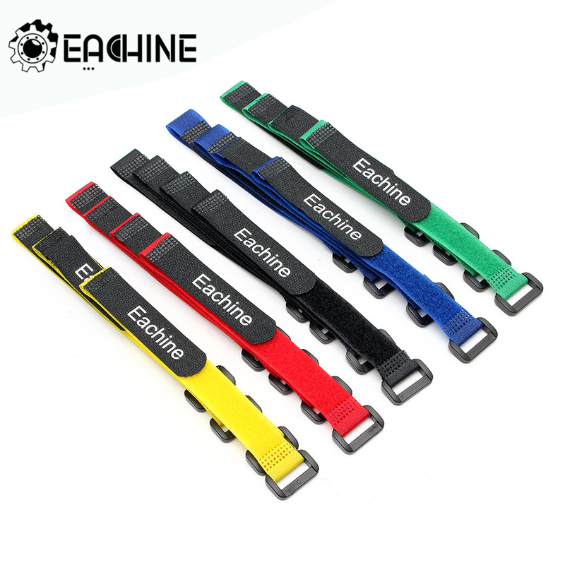Eachine 10PCS Strong 26*2cm Lipo Battery Tie Cable Tie Down Strap Colors For RC Helicopter Quadcopter Spart part