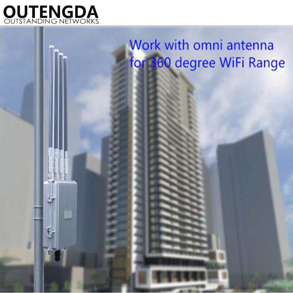 Routeur haute puissance de point d'accès sans fil INTELLIGENT 802.11AC 5.8 Ghz 1200 Mbps pour le projet de couverture WIFI extérieure Booster de Signal AP - 6