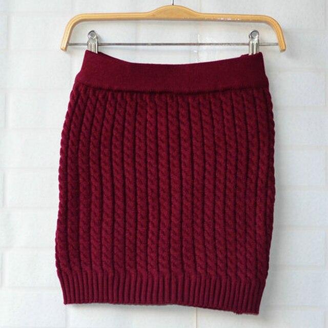 e6658cc2ddfa Bq65 Winter Warmer femmes crayon pull jupes câble Chunky tricoté moulante  bureau Tube Mini jupe courte