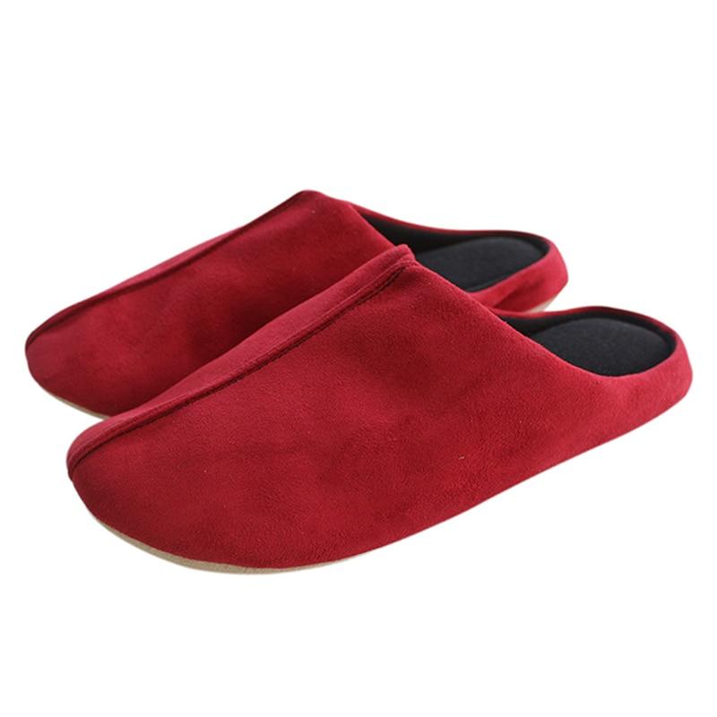 Wholesale Winter Warm Lovely Velvet Ladies Home Anti Slip Men Slippers Indoor Shoes Cotton Slippers Soft