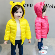 купить Children jacket Outerwear coat baby Boy and Girl autumn Warm Hooded Coat parka kids winter jacket cotton down parka 1 3 6 years дешево