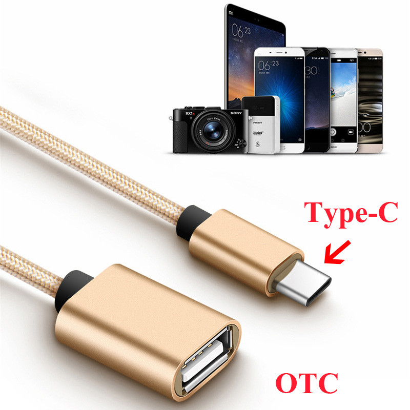 Type C To USB 2.0 OTG Adapter USB2.0 Type-C Data Cable Connector USB C Cable For Huawei P9 P20 Mate 20 Xiaomi 4C 5 Samsung S8