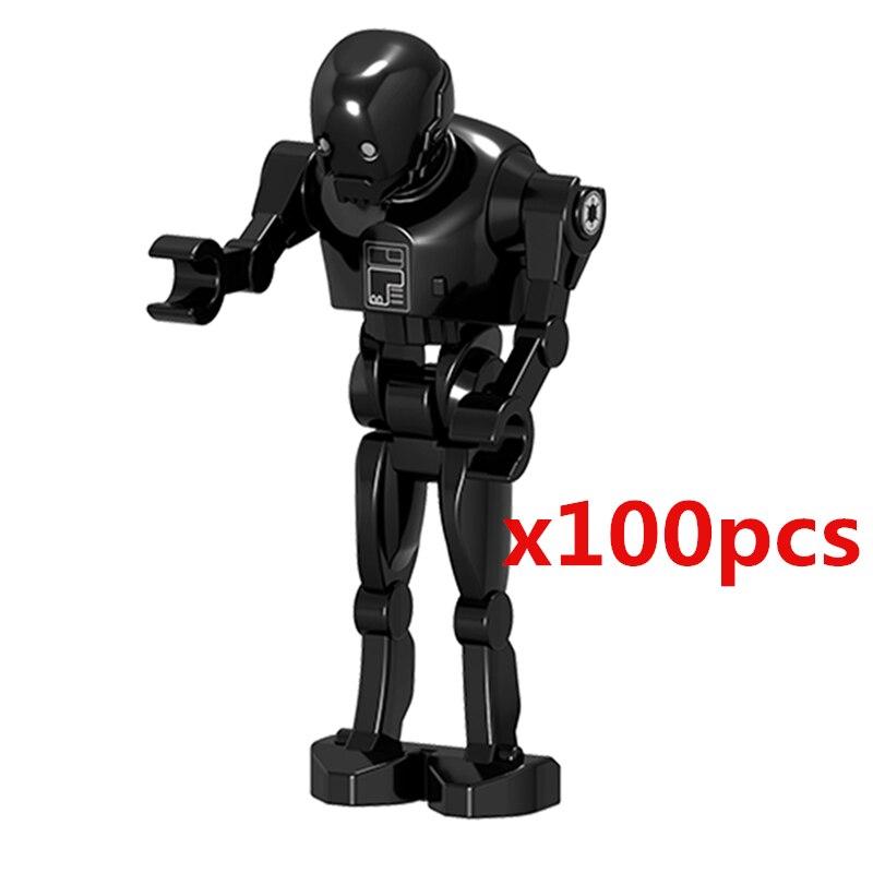 US $17 99  Wholesale 100pcs/lot Battle Droid Figure Model Set Building  Blocks kits Brick Toys for Children-in Blocks from Toys & Hobbies on