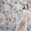 Многоцветные трехмерные бабочка вышивка ткани пряжи кружева вышивки юбка кружева ткань