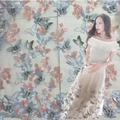 Multi - color three - dimensional butterfly embroidery fabric yarn lace embroidery skirt lace cloth