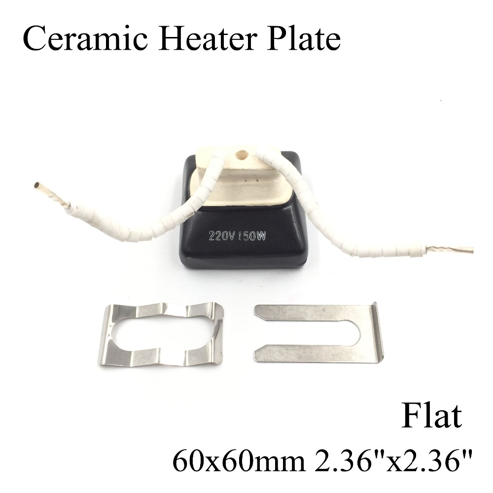 60*60mm Flat Vacuum Injection Molding Machine Repair Far-infrared IR Ceramic Heating Plate Air Ceramic Heater Board Pad For BGA ceramic heater board 120 120mm 220v 230v 150w white flat top upper infrared ceramic heating plate for bga station heater heating