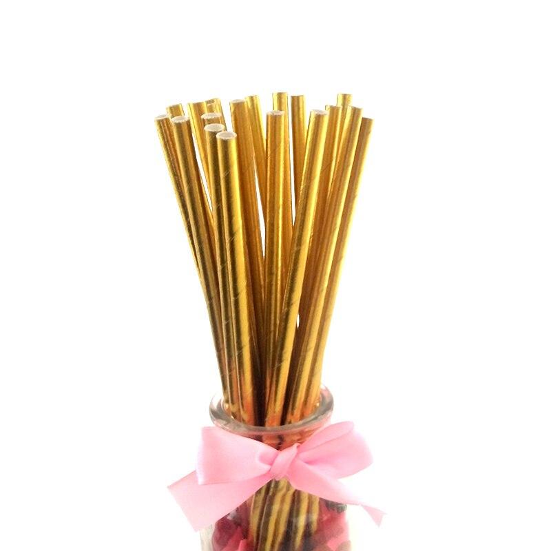 2400 упаковок, фольга Золотая, серебряная, кофейная, чайная, соковая бумажная соломинка для питья, свадьбы, дня рождения, вечеринки, вечерние украшения, оптовая продажа - 3