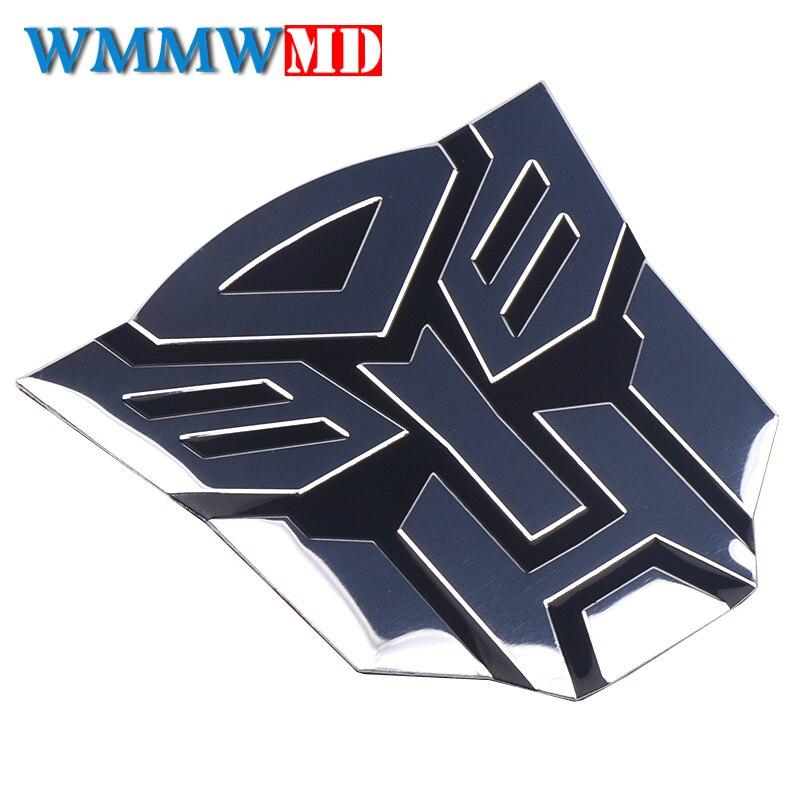 Car Decoration Autobots Sticker 3D Metal Creative Aluminium Transformers Emblem Badge Decal Motorcycle Styling Auto Accessories