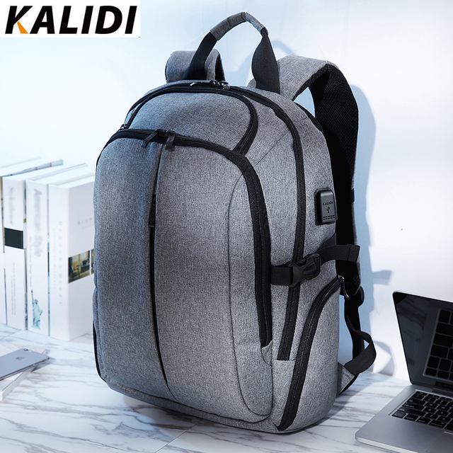 KALIDI Laptop Backpack for Teenager Men Backpacks School Bag Waterproof Vintage Backpack Travel 15.6 inch or 17.3 inch laptop