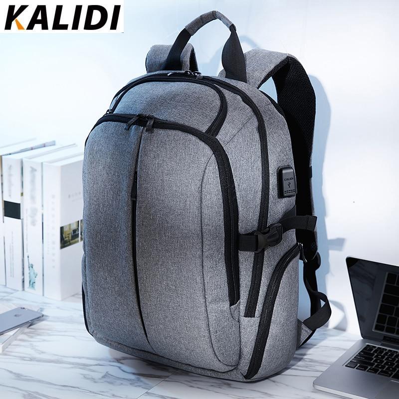 KALIDI sac à dos pour ordinateur portable pour adolescent sacs à dos hommes sac d'école étanche Vintage sac à dos voyage 15.6 pouces ou 17.3 pouces ordinateur portable