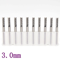 Ten PCB Cutter 3 175 2 0mm PCB CNC Milling Of Tungsten CarbideTools Micro End Mills
