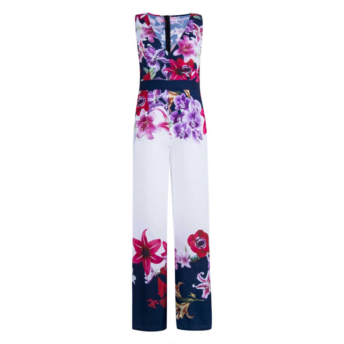 Kadın V Boyun off-omuz Yaz Jumpsuit2019 Yeni Bayan Çiçek Baskılı Romper Clubwear Tulum Casual Backless Tulum Romper