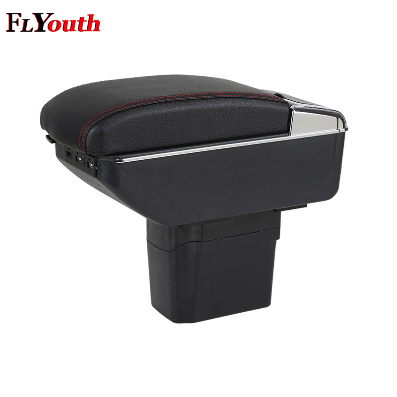 For <font><b>Chevrolet</b></font> <font><b>Cruze</b></font> 2009-2014 Car Armrest Box <font><b>USB</b></font> Charging Heighten Double Layer Central Store Content Cup Holder Ashtray image