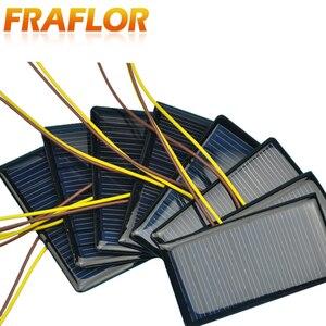 Image 4 - 100 Teile/los 5V 60mA 68*37 Polykristalline Silizium Solar Panel Solarzelle Placa Solar 5V Batterie DIY panneau Solaire Solar Module