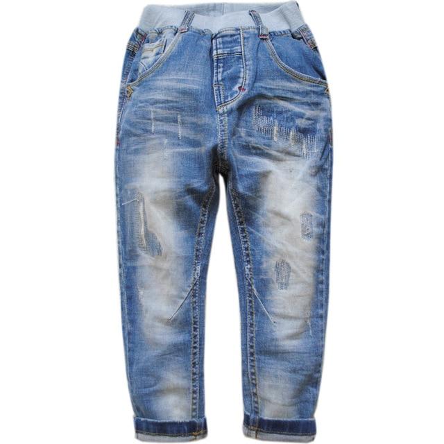 5982 мягкие джинсы брюки мальчиков джинсовые брюки весна осень светло-голубой простой мода new kids дети хорошо не исчезают