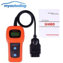 Hot Sale U480 OBD2 CAN BUS/ Engine Code Reader memoscan U480 code reader OBD2 OBDII Car or Truck AUTO Diagnostic Engine Scanner
