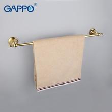 Gappo 1 компл. Высокое качество золото настенные один Штанги для полотенец Ванная комната аксессуары Полотенца держатель крючки туалете Полотенца стойки G1401