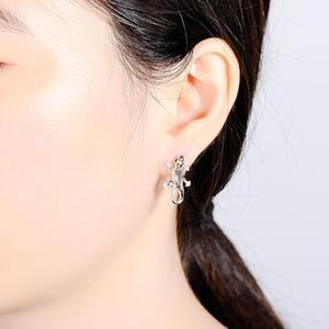 Image 5 - SANTUZZA Silver Earrings For Women 925 Sterling Silver Stud Earrings Silver 925 with Stones Cubic Zirconia brincos Jewelry