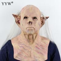 Realistic Latex Masker Scary Elf Man Mask Full Head Adult Halloween Masks Breathable Halloween Masquerade Party Mascara Cosplay