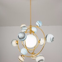 Nordic chandelier living room lamp earth household post modern lamp planet